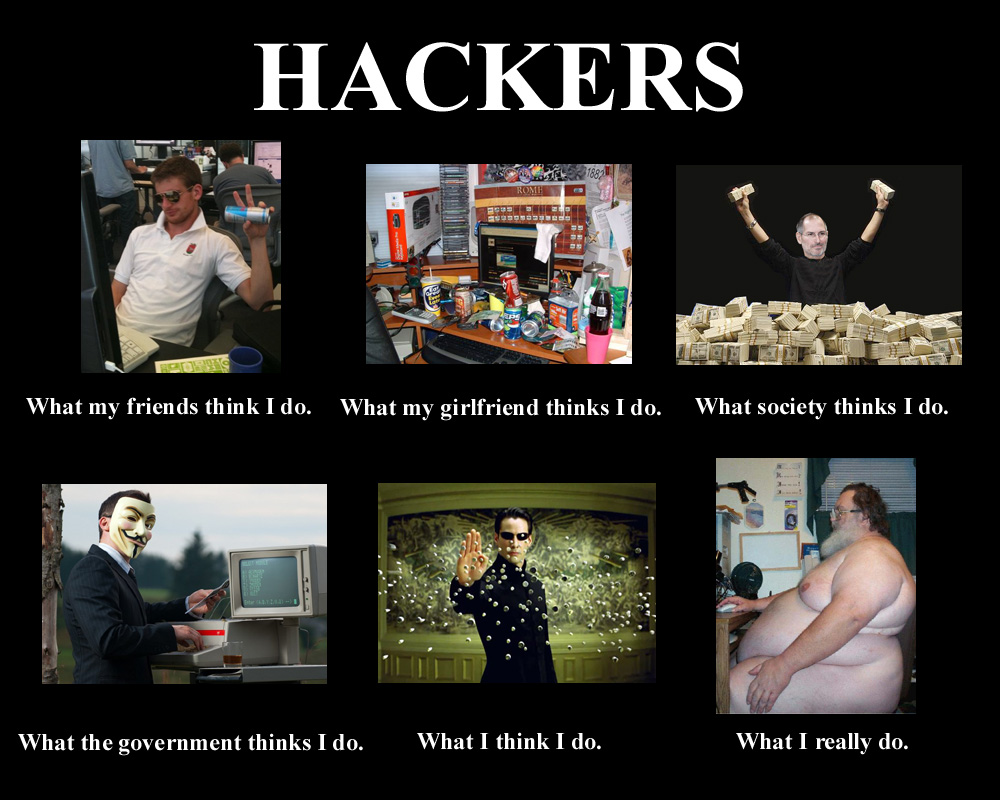Image 251854 what people think i do what i really do know hackers what my friends think i do what my girlfriend thinks i do what maxwellsz