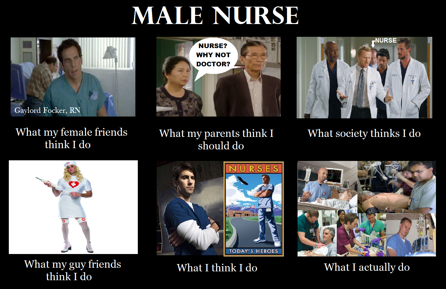 What my parents think i do nurse