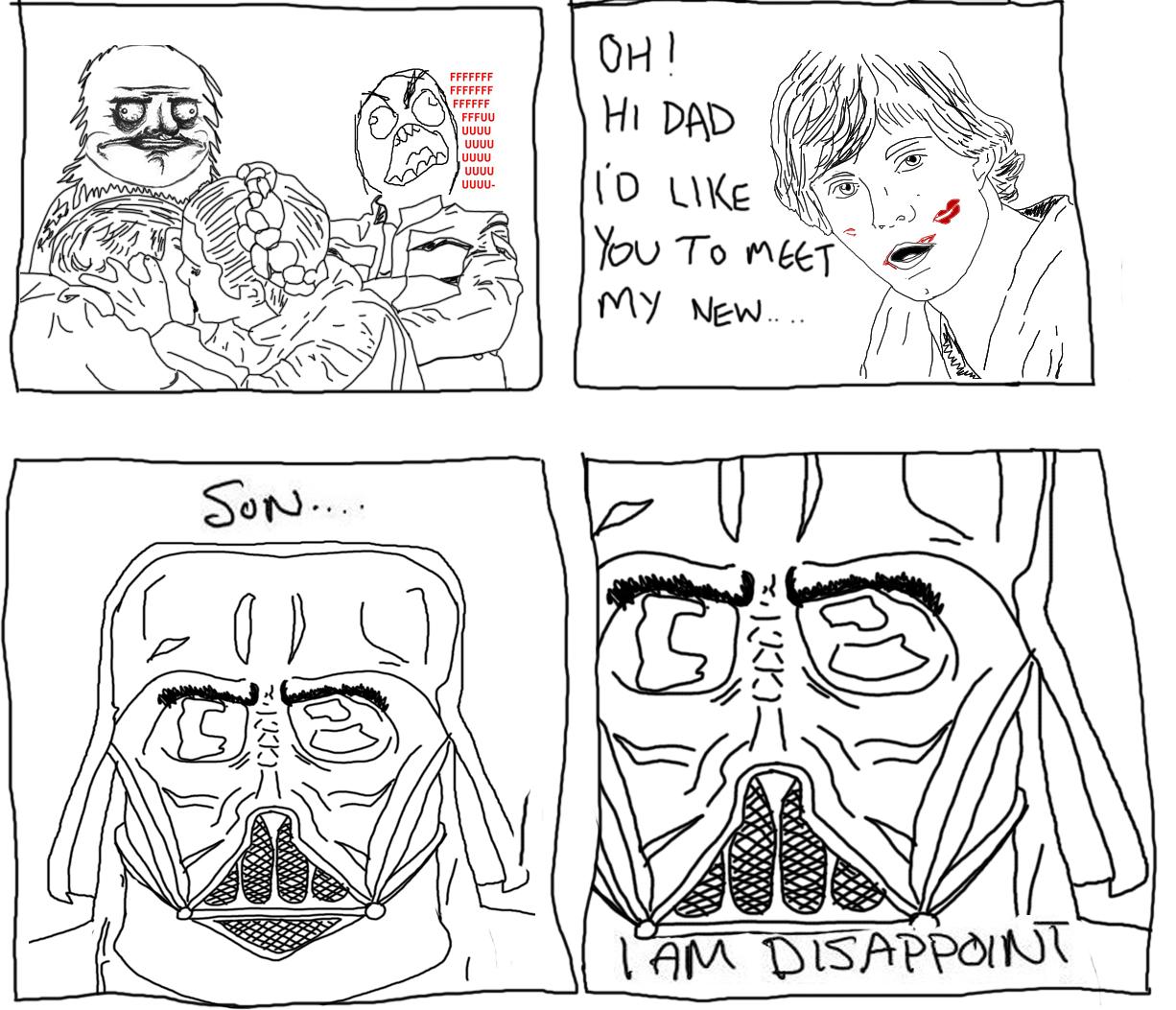 Hi dad o meet son line art face black and white nose text head cartoon comics