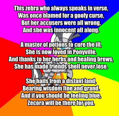 My Little Poetry: Zecora   My Little Pony: Friendship is Magic