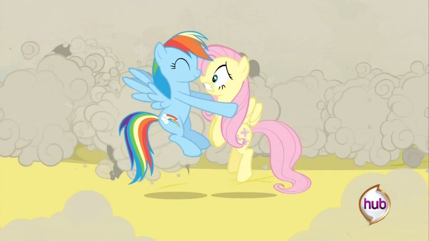 rainbow dash and fluttershy kiss my little pony friendship is