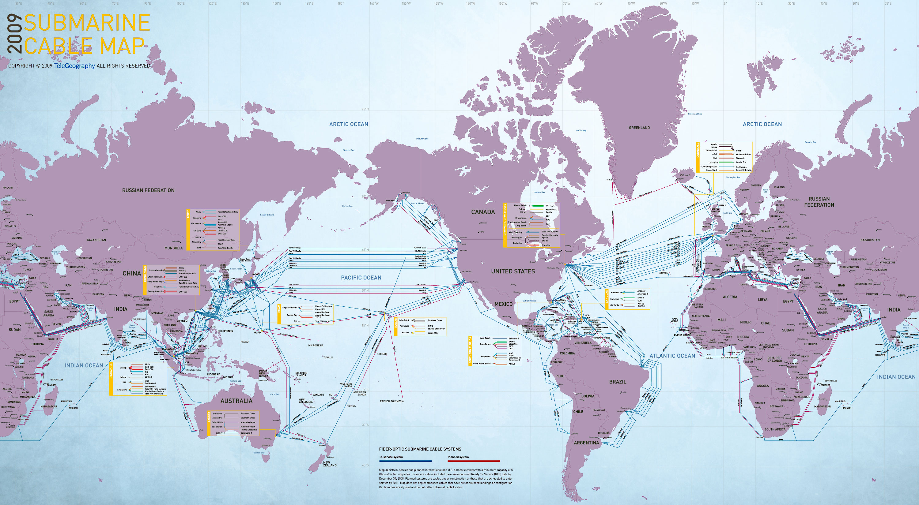 The world map of submarine communications cable infographic dumps 75 e 1so e 5 w a0 w 75 e submarine cable map copyright o 2009 gumiabroncs Choice Image