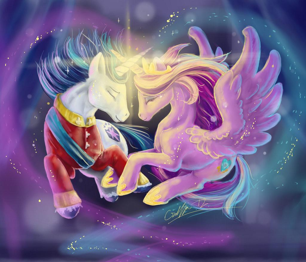 Princess Cadance Celestia Shining Armor Rainbow Dash Mythical Creature Purple Anime Art Fictional Character