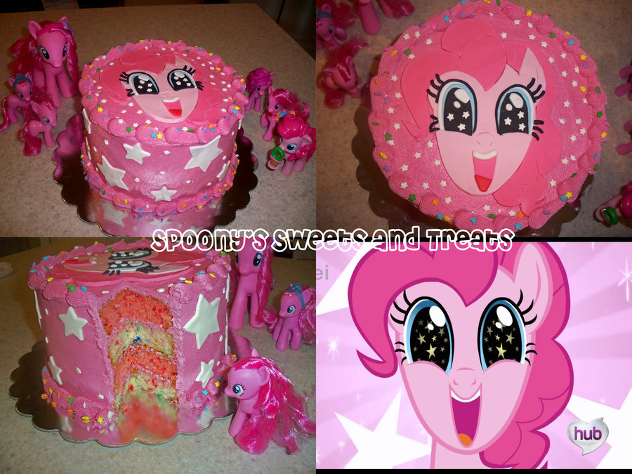 Hub My Little Pony Pinkie Pies Party Pie Rainbow Dash Birthday Cake Cupcake Pink