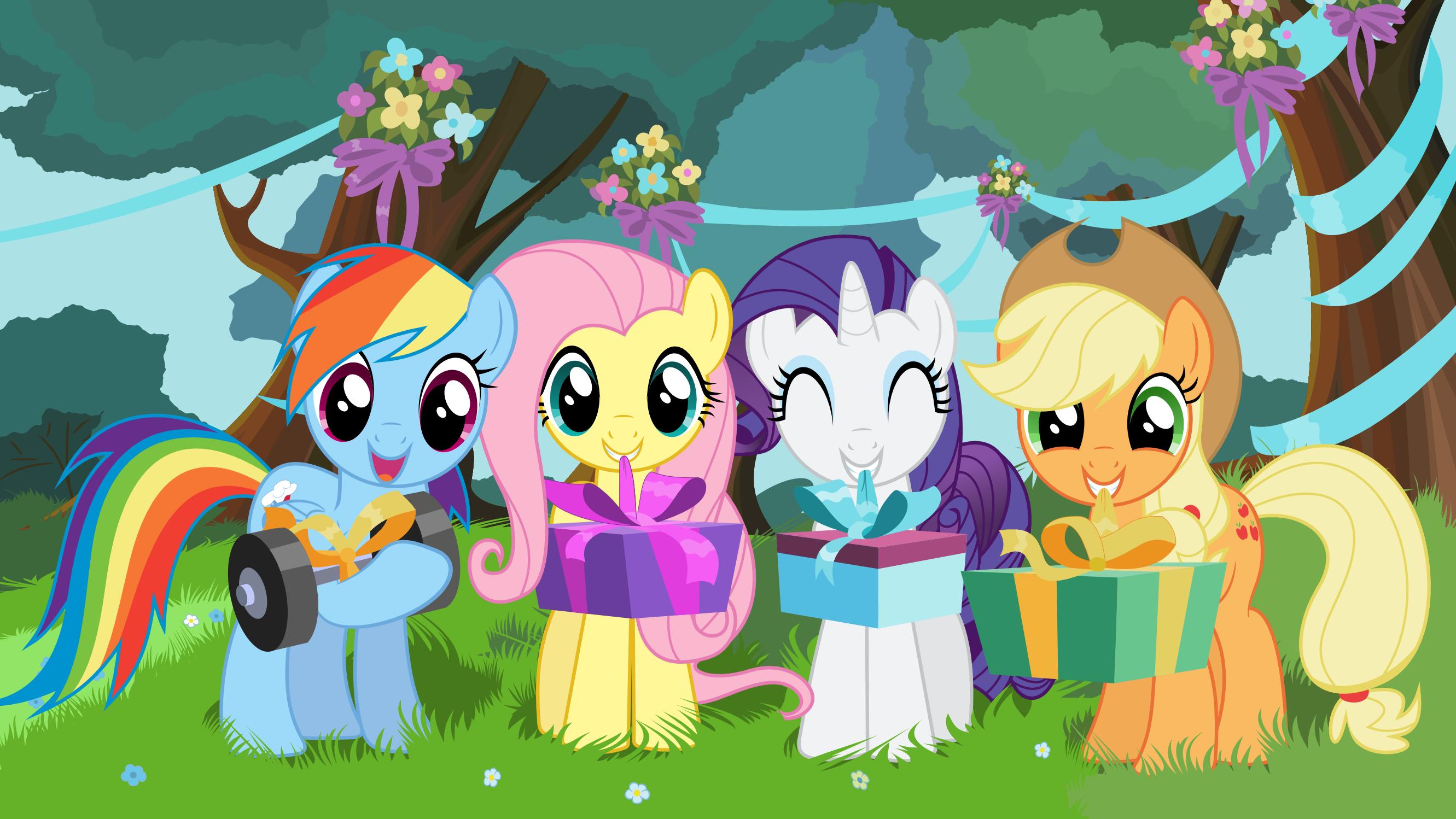 Открытка литл пони с днем рождения
