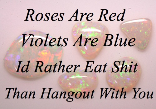mean poems roses are red