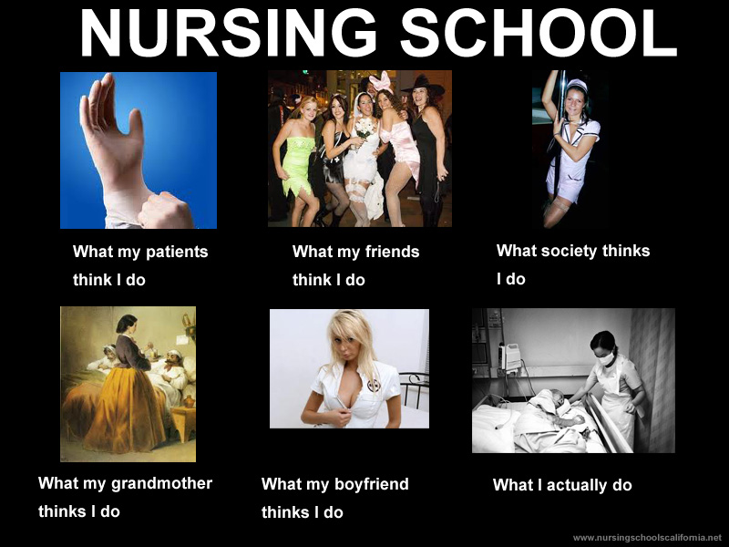 Nursing School What My Patients Think I Do What My Friends Think I Do What Society