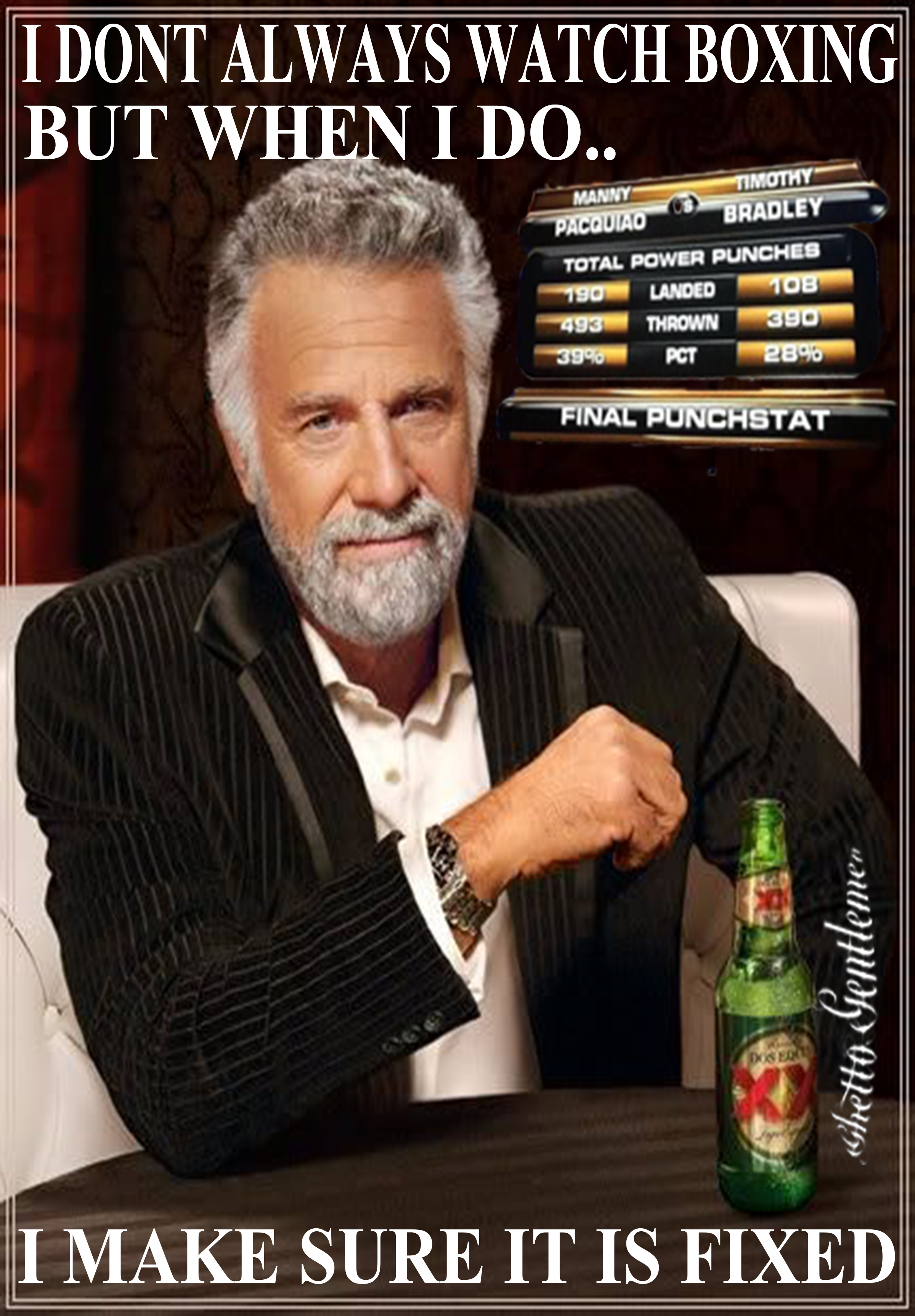 boxing the most interesting man in the world know your meme