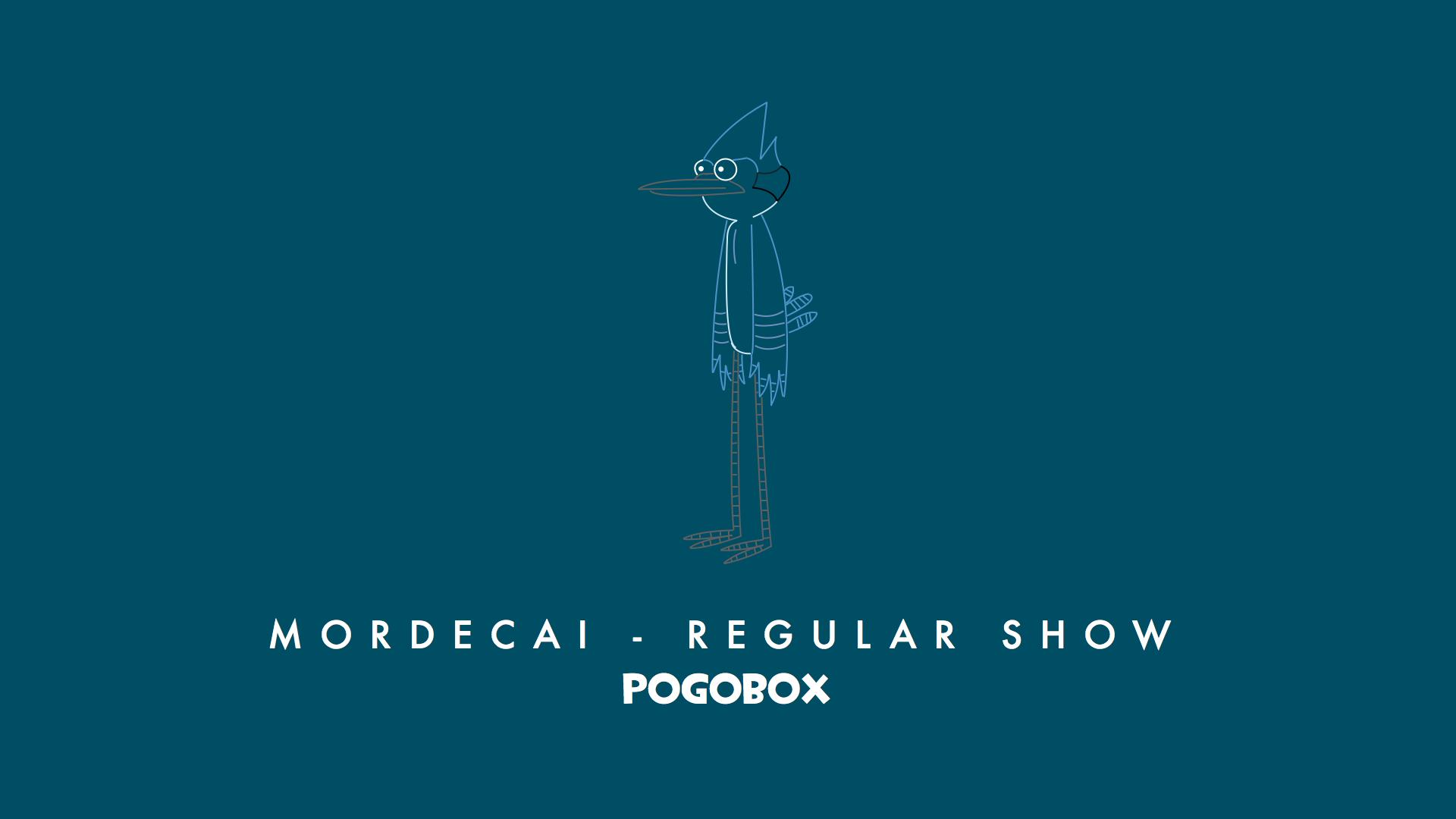 MORDECAI REGULAR SHOW POGOBOx Mordecai Hi Five Ghost Rigby Text Font