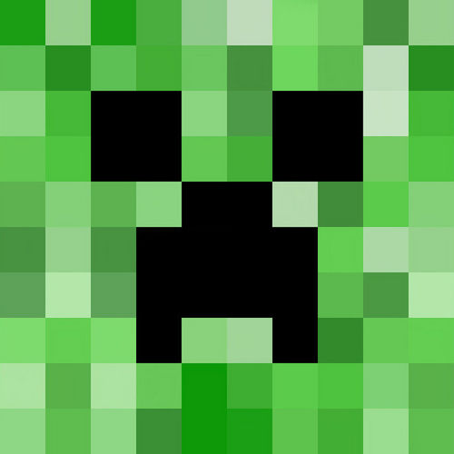 Creepers face minecraft creeper know your meme green square pattern voltagebd Image collections
