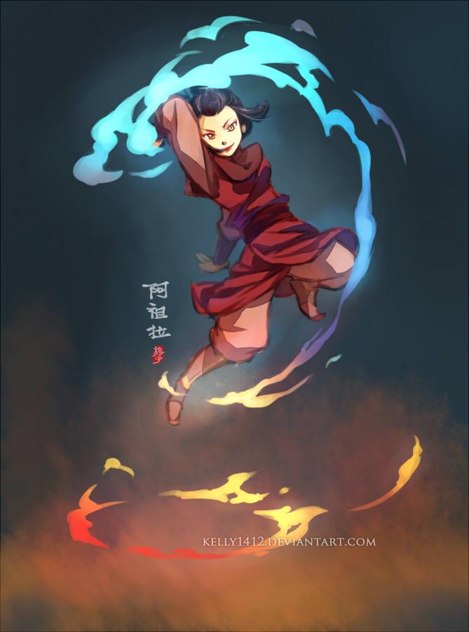 KELLY1412 ART COM Azula Aang Zuko Katara Sokka Korra Fictional Character