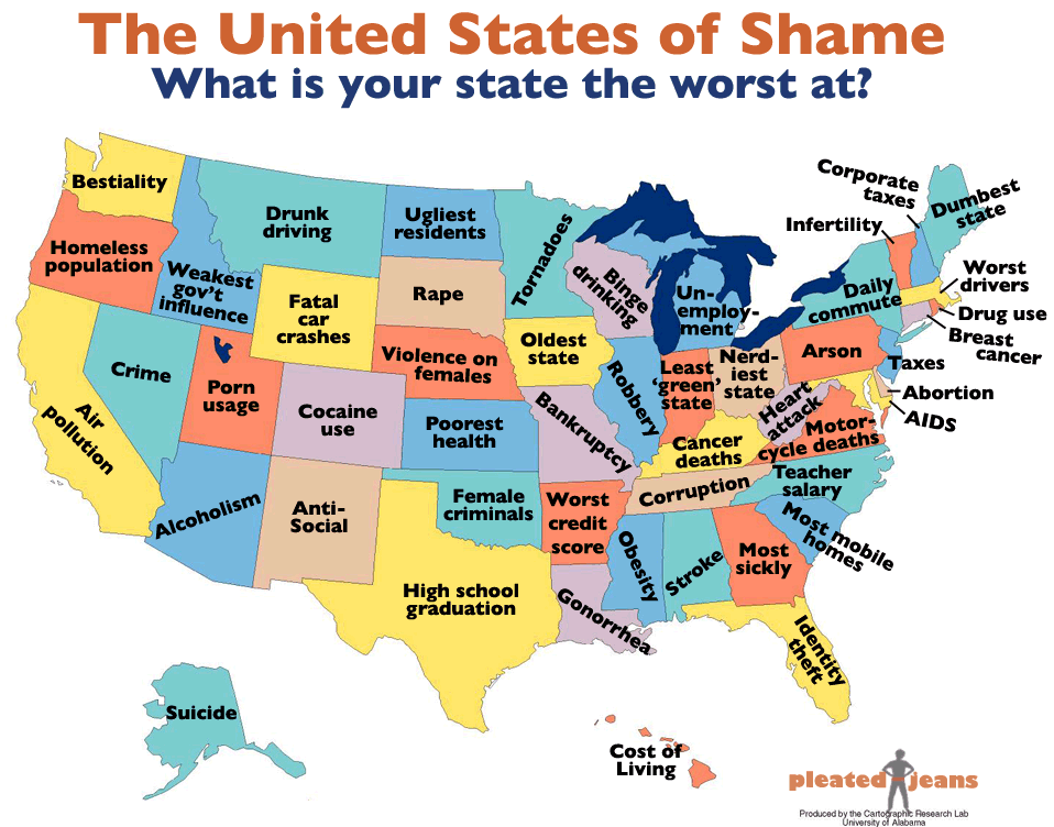 The United States of Shame | America: Yeah! | Know Your Meme on map of yellowstone national park, map of western states, map of earth, map of western us, map of world, map of washington, map of east coast, map of time zones, map of caribbean, map of bahamas, map of western hemisphere, map of guam, map of pacific northwest, map of south dakota, map of hawaii, map of the us, map of wyoming, map of countries, map of midwest, map of great lakes,