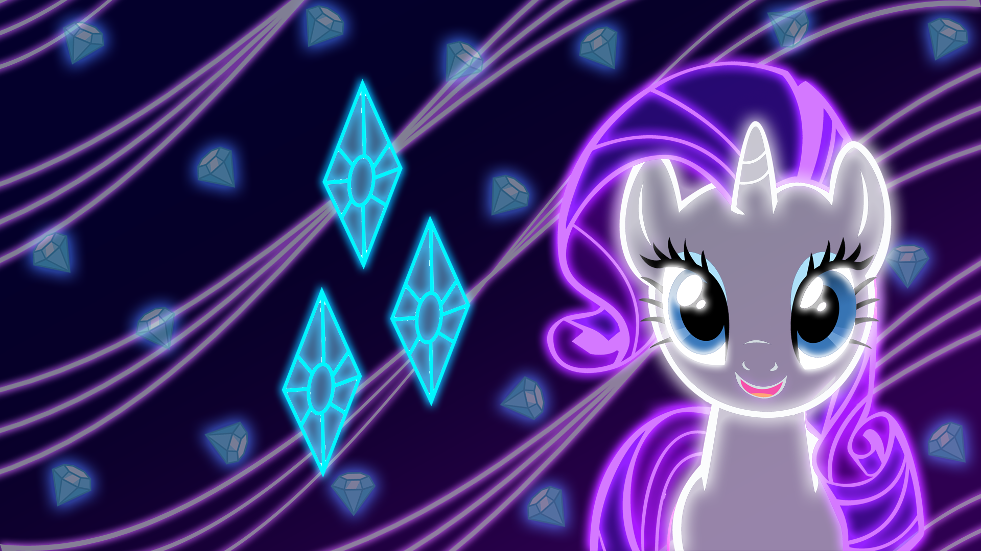 Rarity Pinkie Pie Applejack Twilight Sparkle Rainbow Dash Fluttershy Princess Luna Violet Purple Light Anime Computer