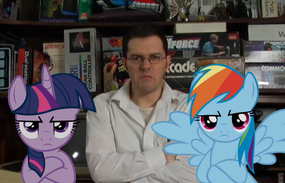 Avgn With Ponies The Angry Video Game Nerd Know Your Meme