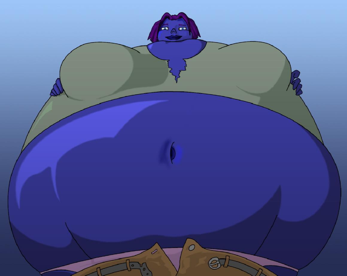 Blue berry girl fetish