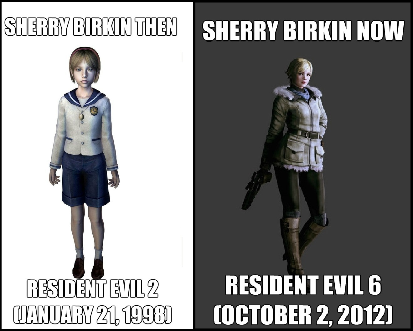 Sherry Then Now Resident Evil Biohazard Know Your Meme
