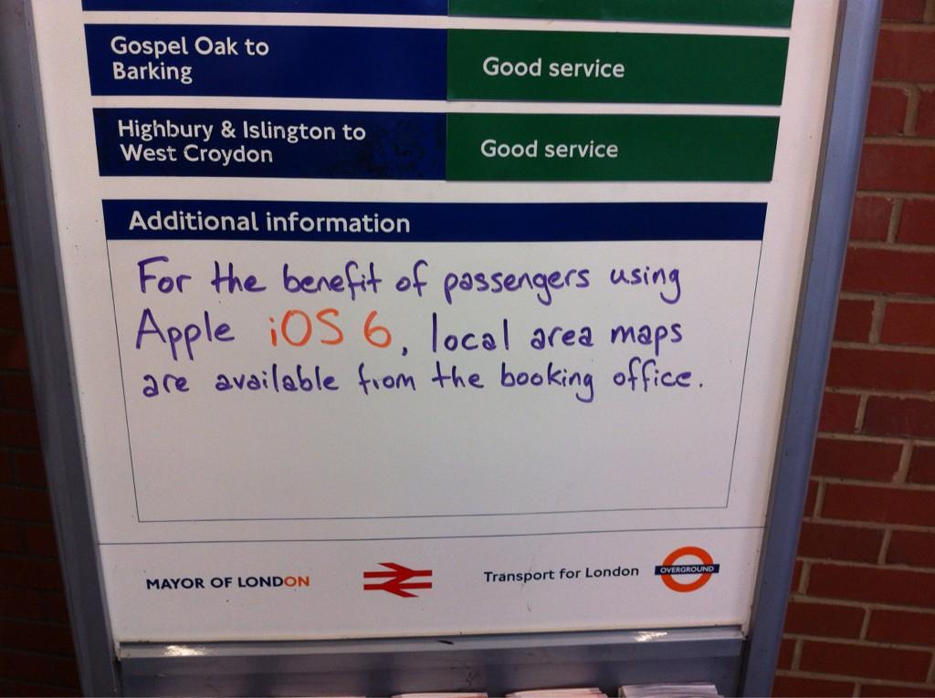 London Underground Aids iOS 6 Maps Users | iOS 6 Maps | Know