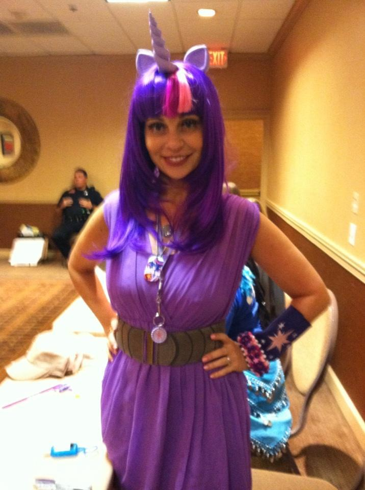 tara strong in her cosplay my little pony friendship is magic