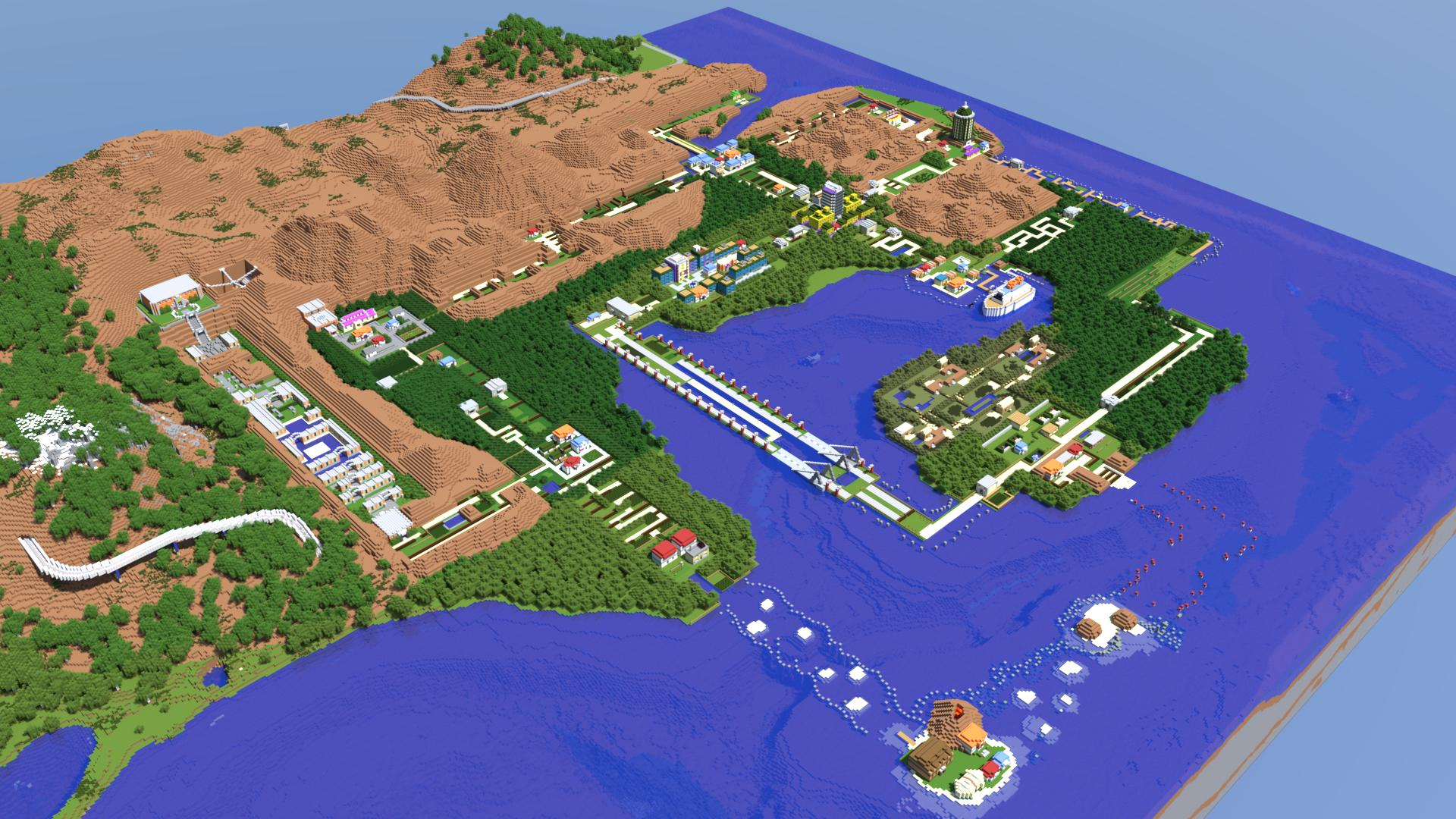 Full Scale Recreation of the Kanto Region from Pokemon