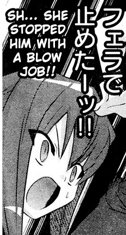 Sh... She stopped him with a blow job!!   Hentai Quotes ...