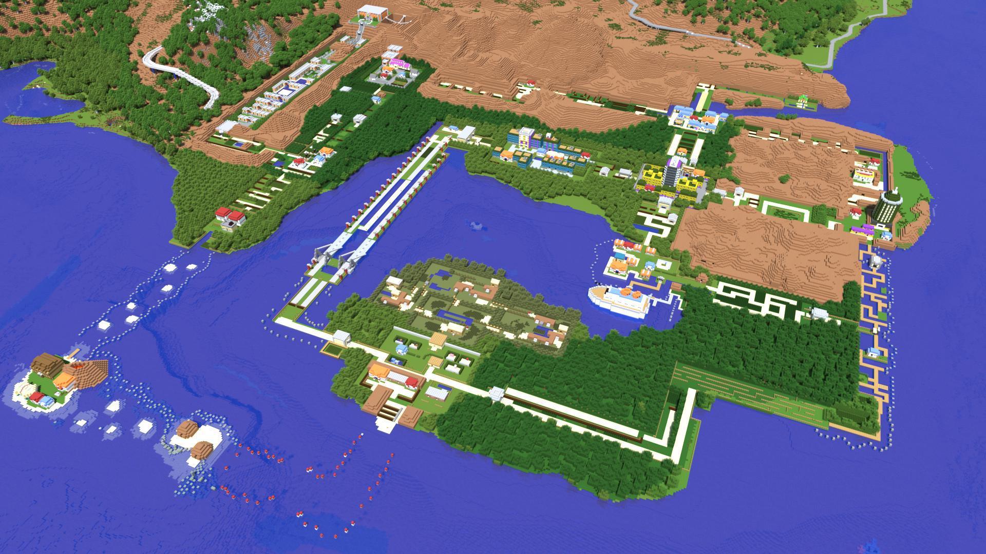 Kanto Region recreated in Minecraft | Minecraft | Know Your Meme