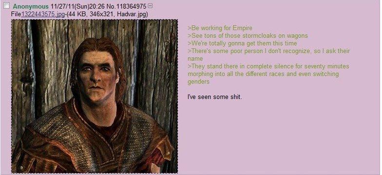 Hadvars Seen Shit The Elder Scrolls V Skyrim Know Your Meme