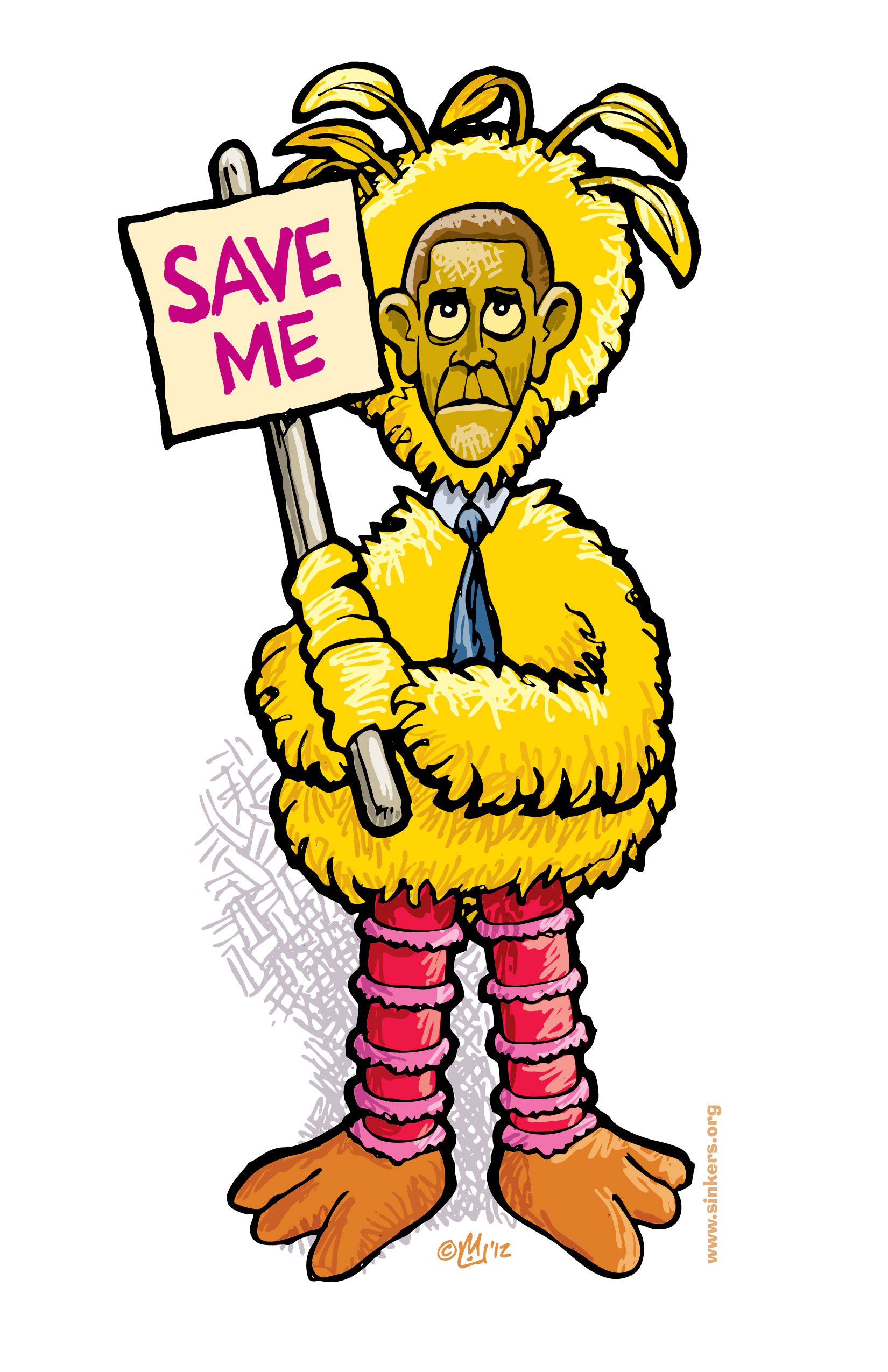 Big Bird Obama Save Me Fired Big Bird Mitt Romney Hates Big Bird