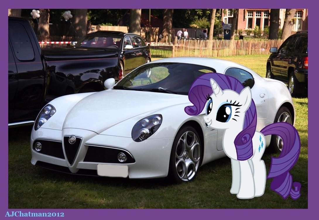8ac an alfa romeo and rarity my little pony friendship is magic