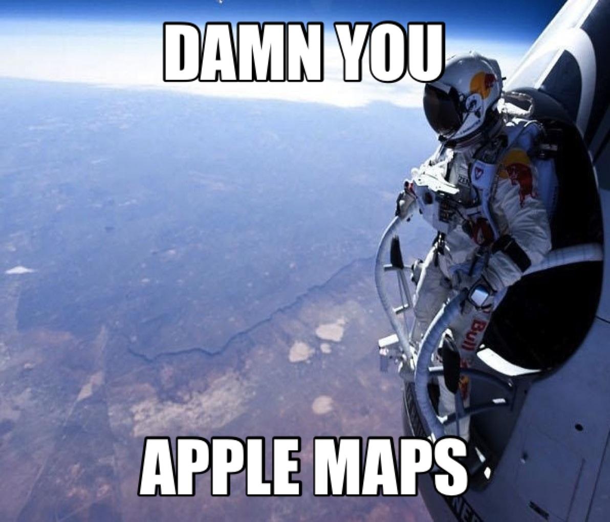 Red Bull Skydive >> Damn You Apple Maps Red Bull Stratos Felix Baumgartner S Jump