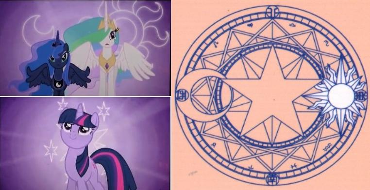 similar to cardcaptor sakura symbol my little pony friendship is