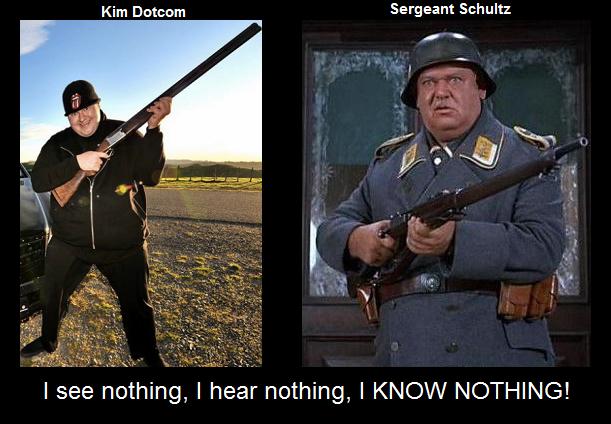 Kim Dotcom And Sergeant Schultz Know Your Meme