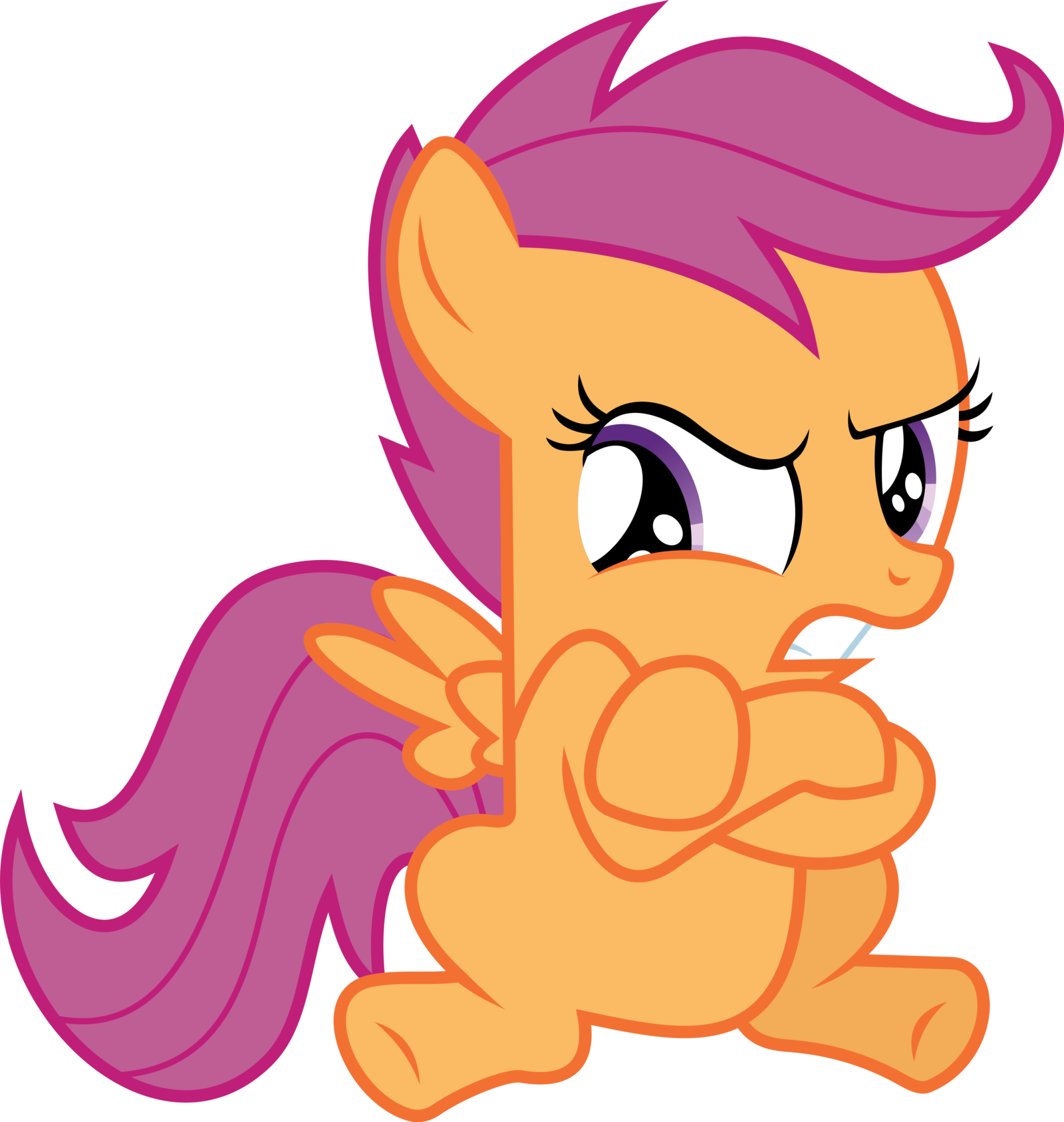 Grumpy Scootaloo My Little Pony Friendship Is Magic Know Your Meme We got our cutie marks! little pony friendship is magic