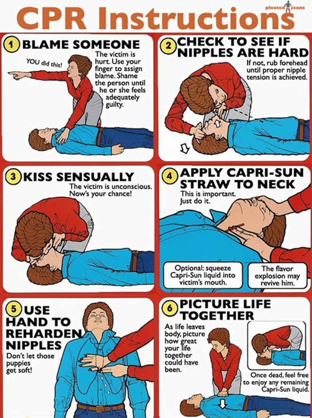 Cpr Instructions Safety Instruction Parodies Know Your Meme