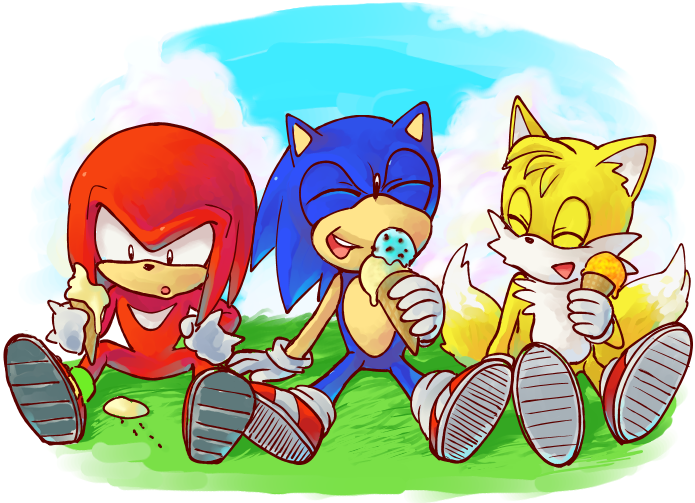 Ice Cream Time For Team Sonic Sonic The Hedgehog Know Your Meme