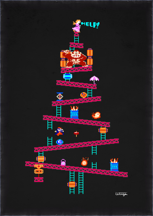 Christmas Mario Png.Donkey Kong Arcade Christmas Tree Super Mario Know Your Meme