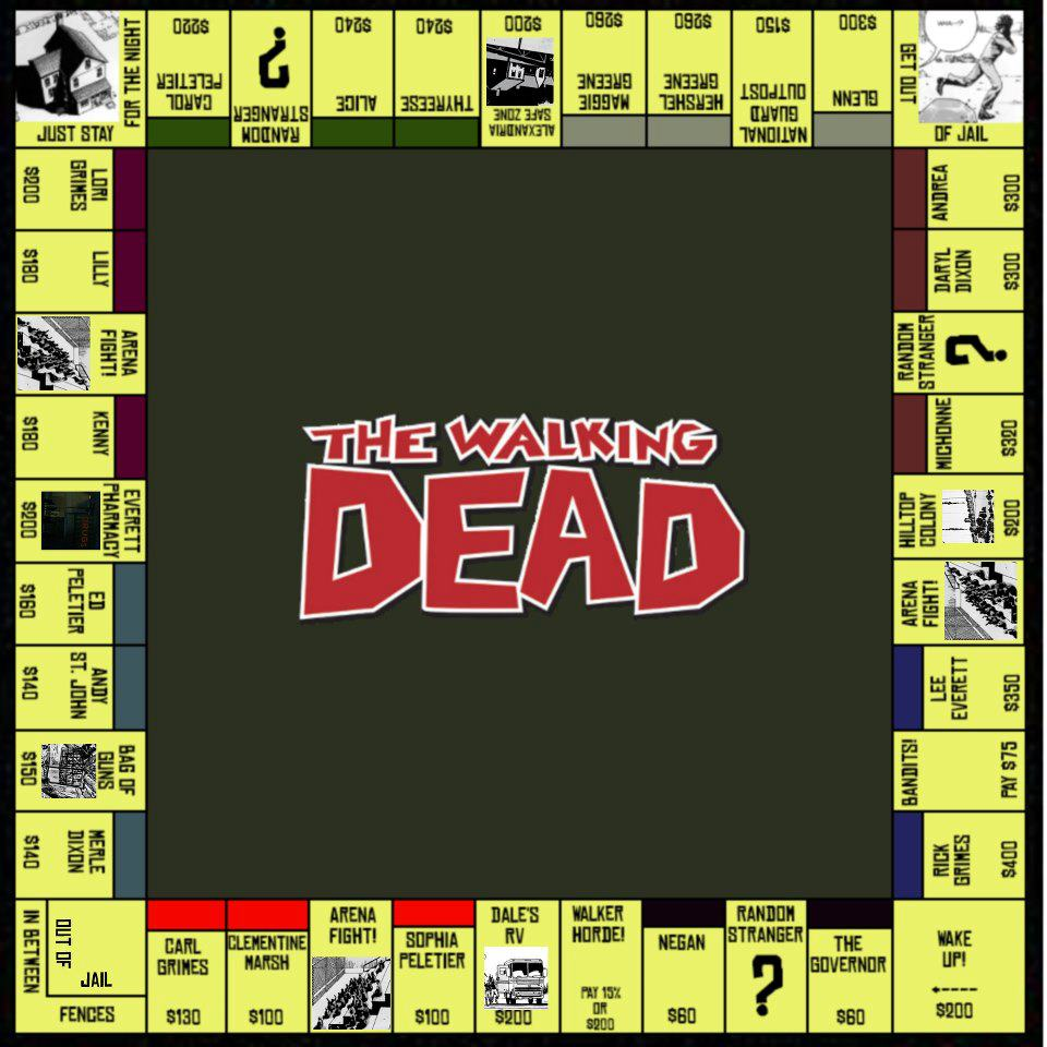 Walking Dead Monopoly Board Zombies Know Your Meme