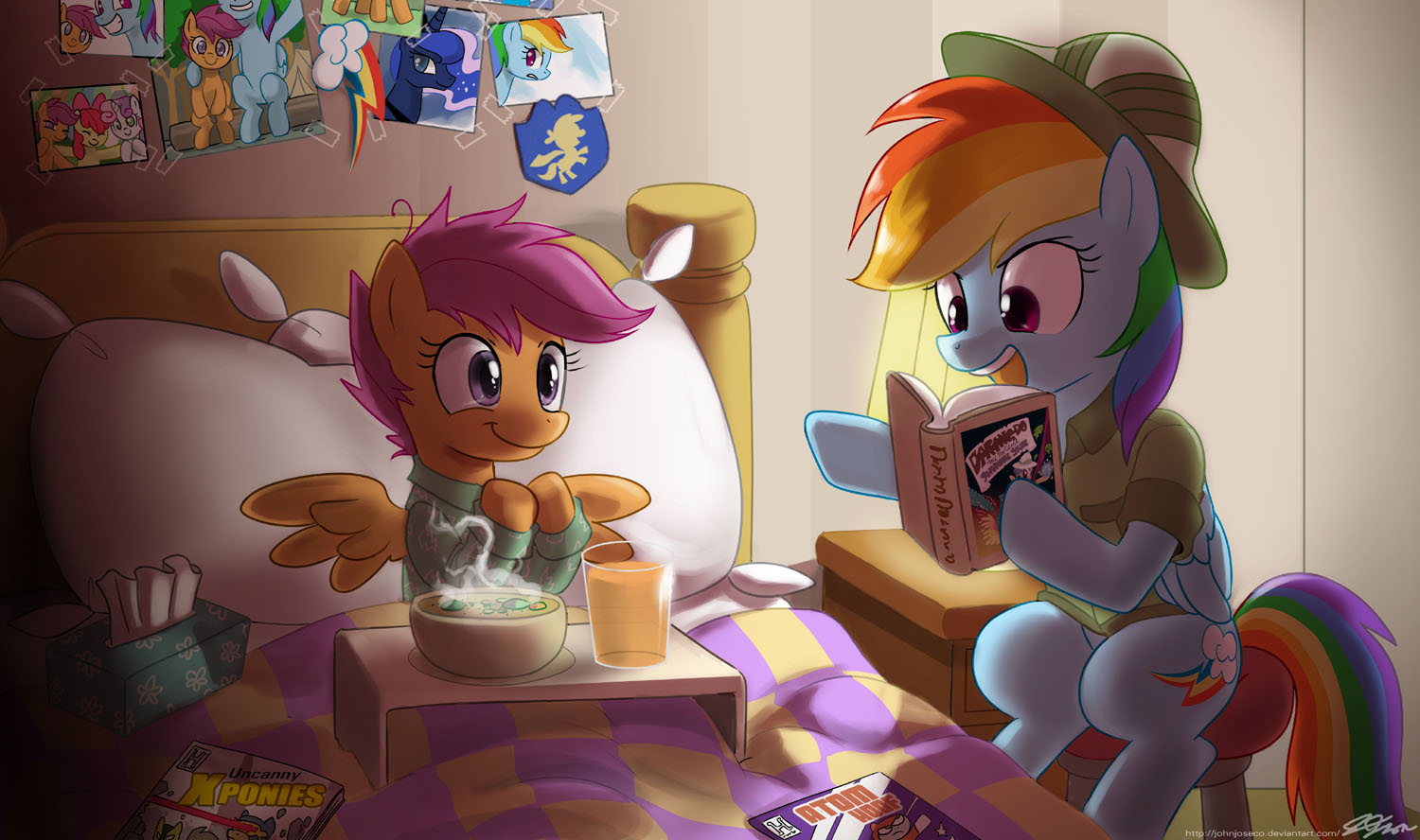 Dashie Reading To A Sick Scootaloo My Little Pony Friendship Is Magic Know Your Meme Get inspired and use them to your benefit. little pony friendship is magic