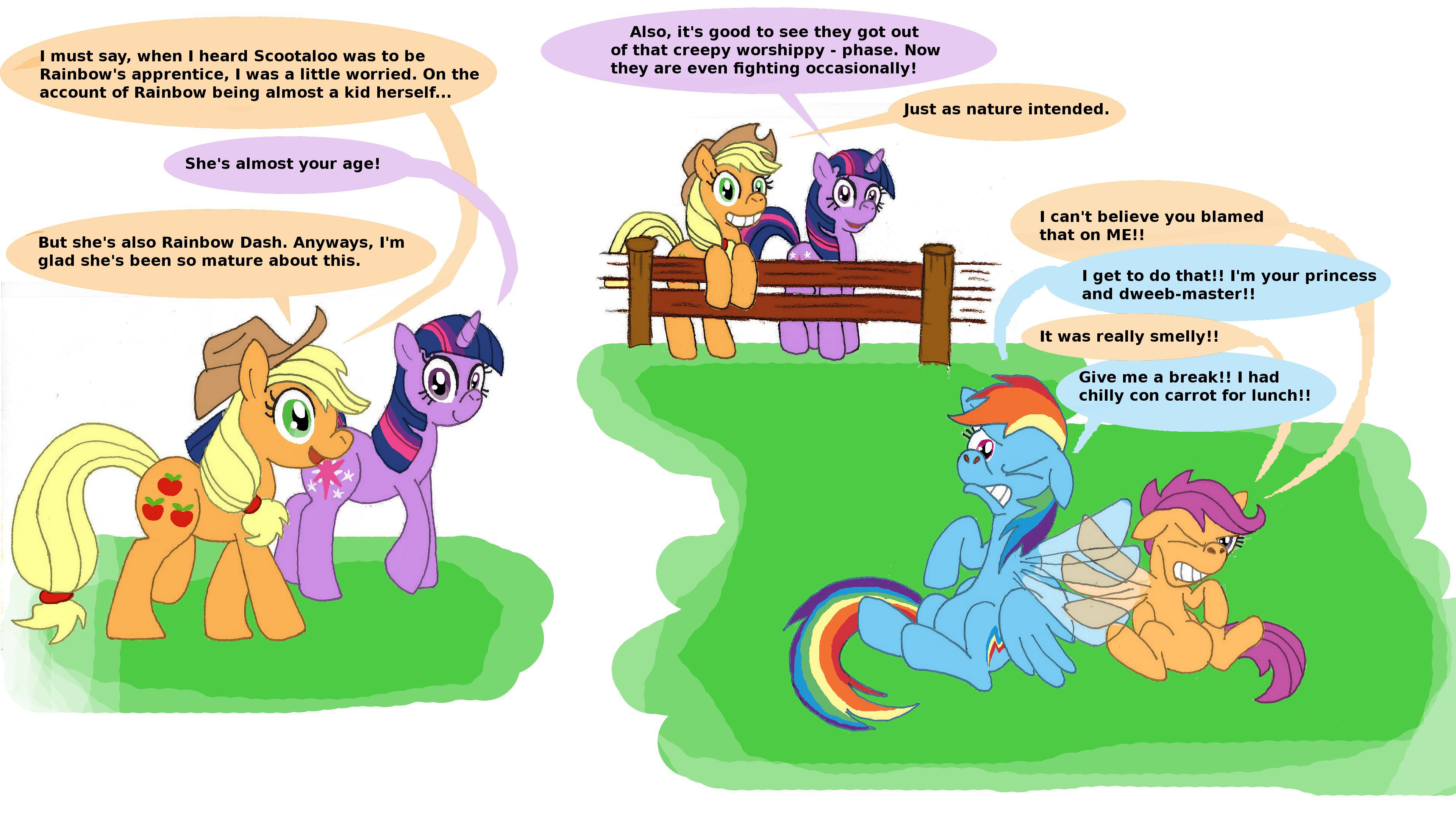 I Must Say When I Heard Scootaloo Was To Be Rainbows Apprentice I Was