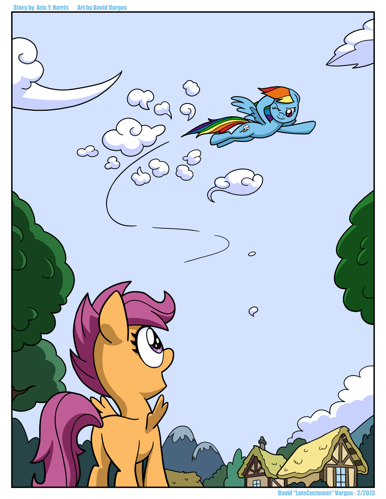Dreams And Reality Page One My Little Pony Friendship Is Magic Know Your Meme Scootaloo is a little bit like rainbow dash, she is very competitive and athletic. little pony friendship is magic