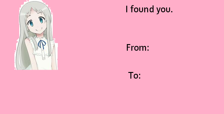 Menma Valentine S Day E Cards Know Your Meme