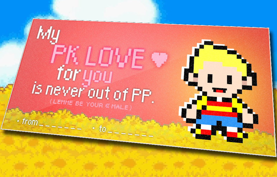 Mother 3 themed valentines day card valentines day e cards my pr love for yuu is never out of pf lemme be your male fromto m4hsunfo