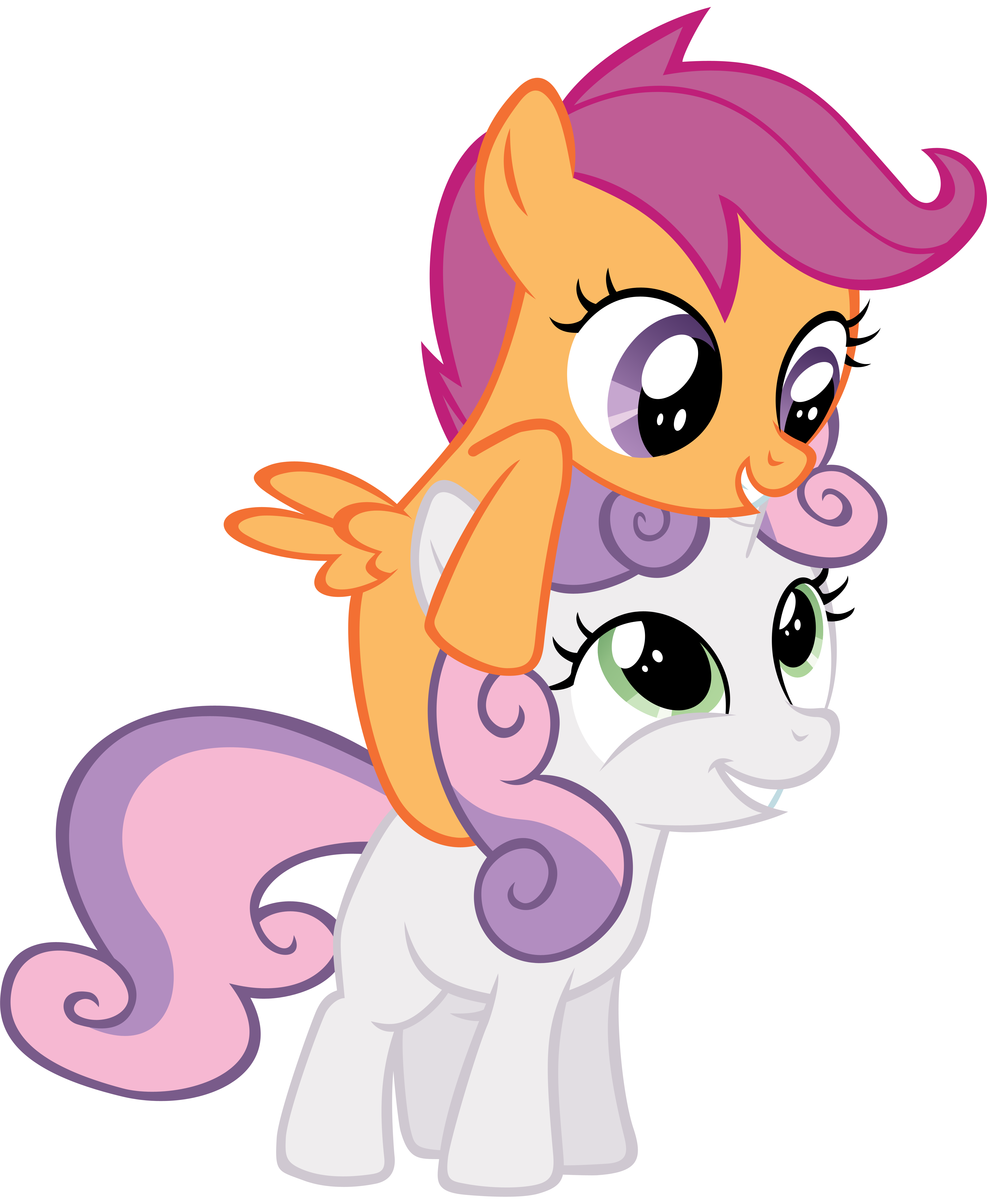 Piggyback On Sweetie Belle My Little Pony Friendship Is Magic Know Your Meme
