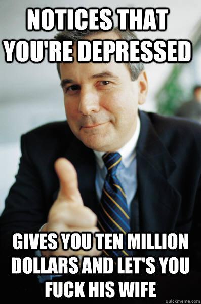 Depressed wife fucks