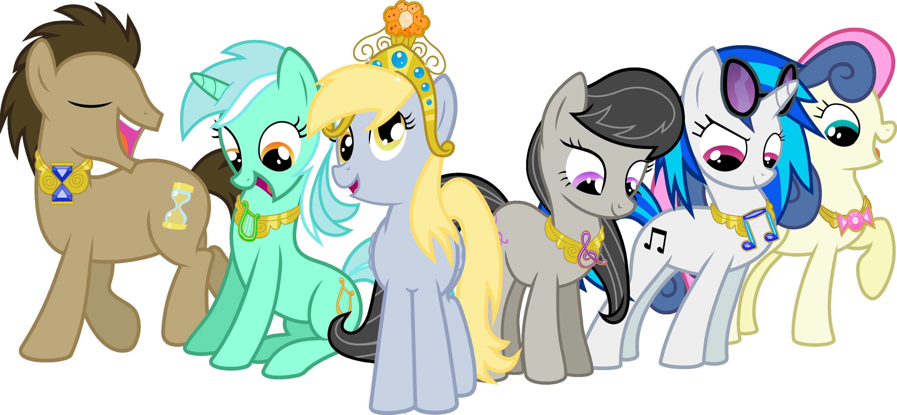 The Background Mane 6 Elements of Harmony   My Little Pony ...