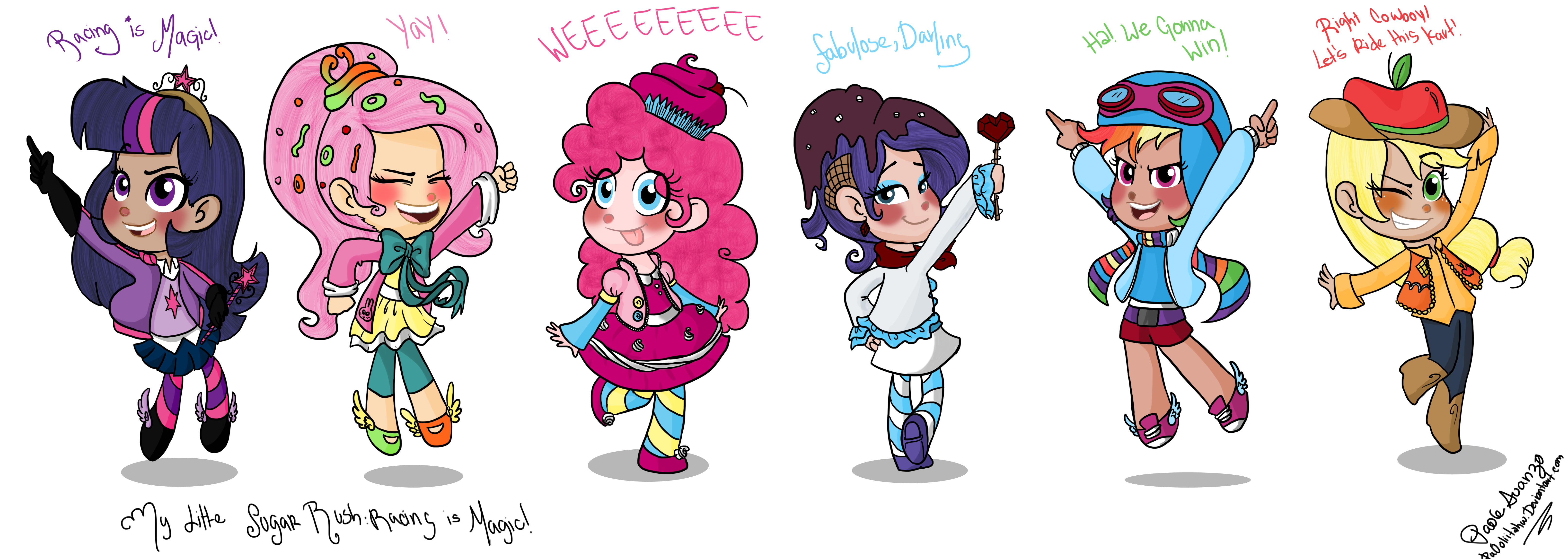 my little sugar rush racing is magic my little pony friendship