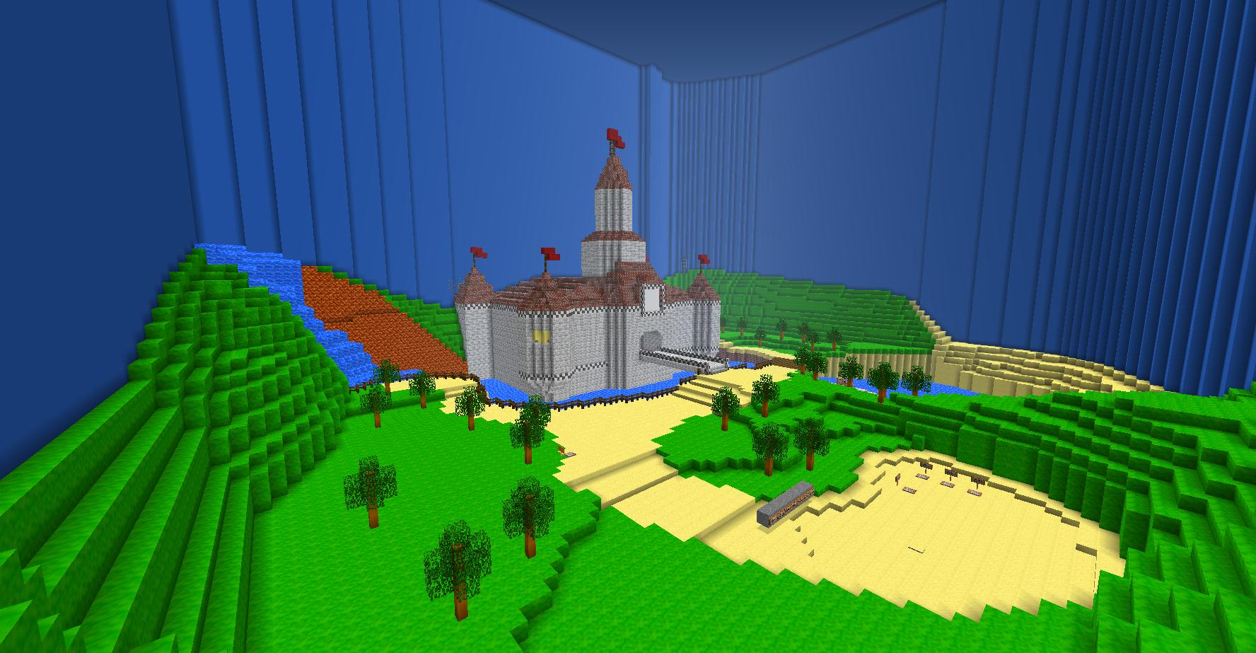 Mario 64 The Mushroom Castle 2 Minecraft Pixel Art Know