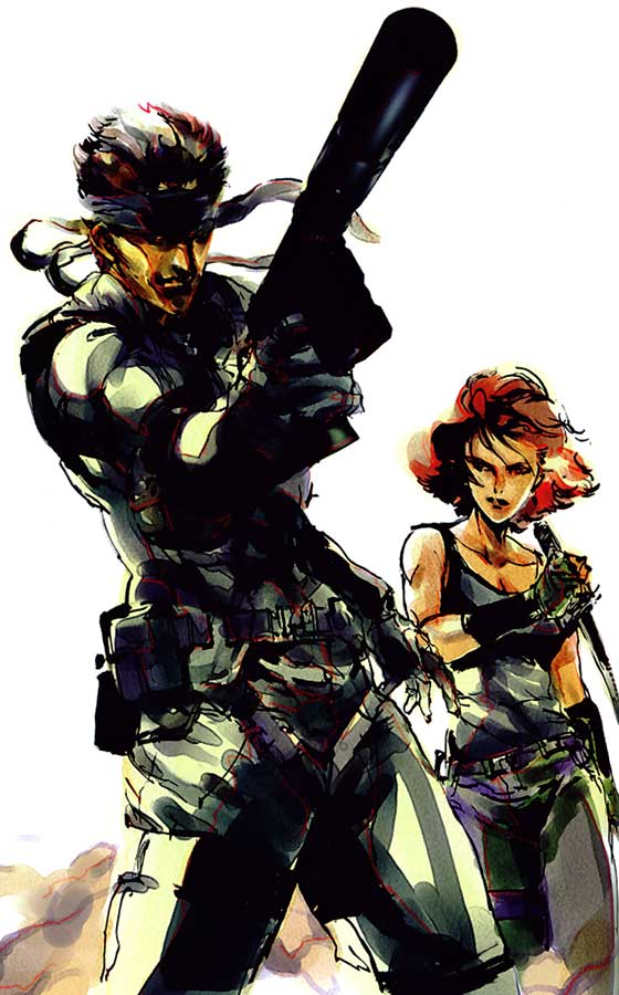 Solid Snake And Meryl Metal Gear Know Your Meme