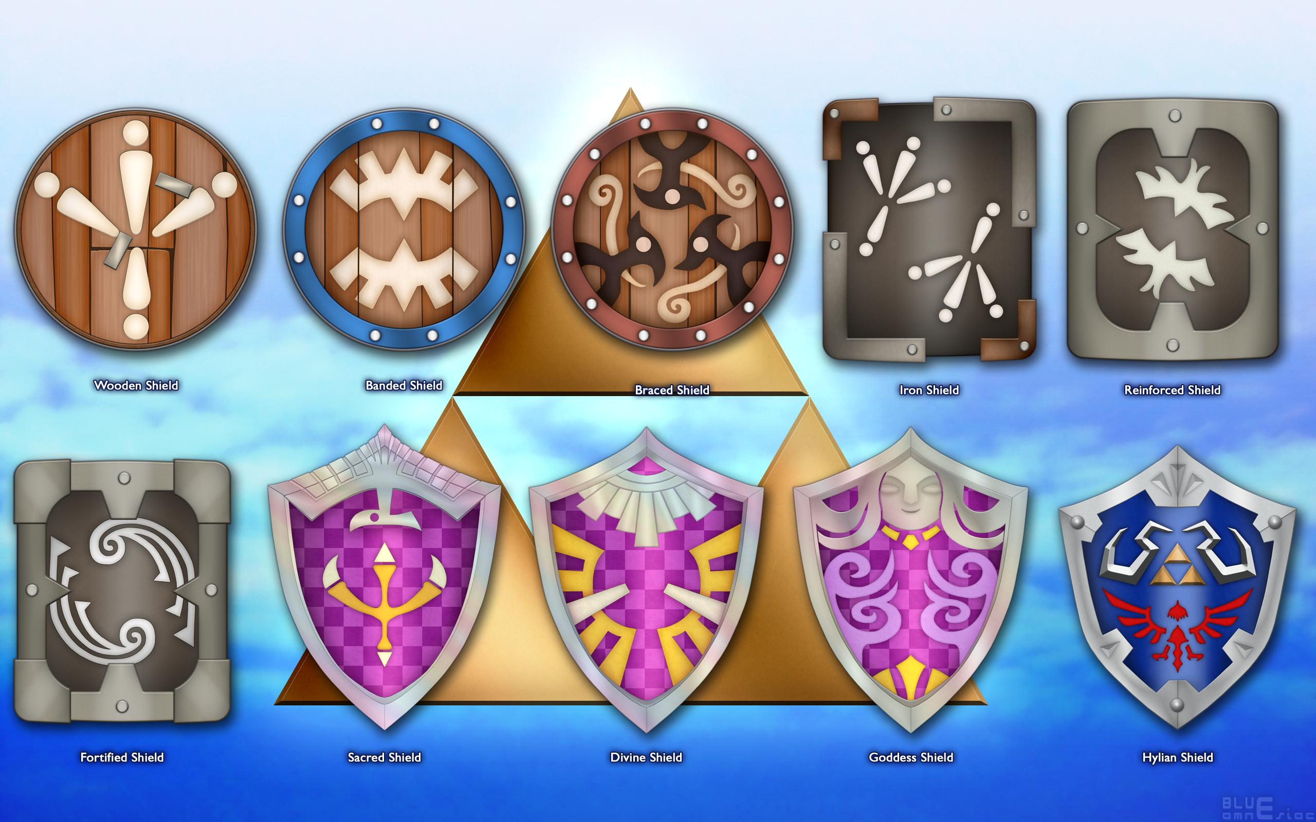 Shields Of Skyward Sword The Legend Of Zelda Know Your Meme