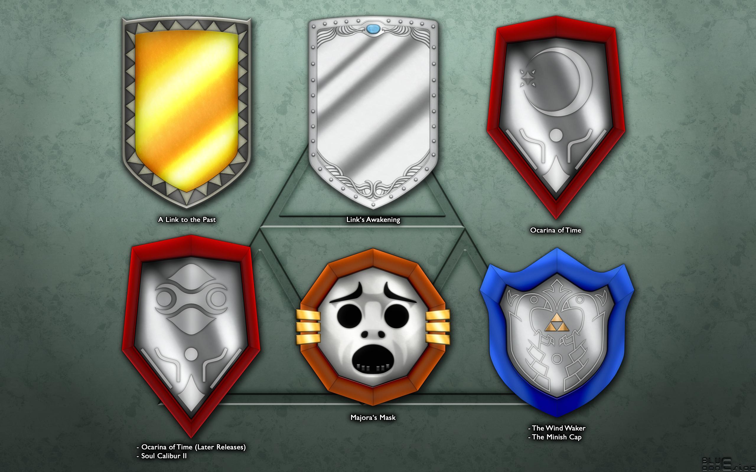 Evolution Of Links Mirror Shield The Legend Of Zelda Know Your Meme