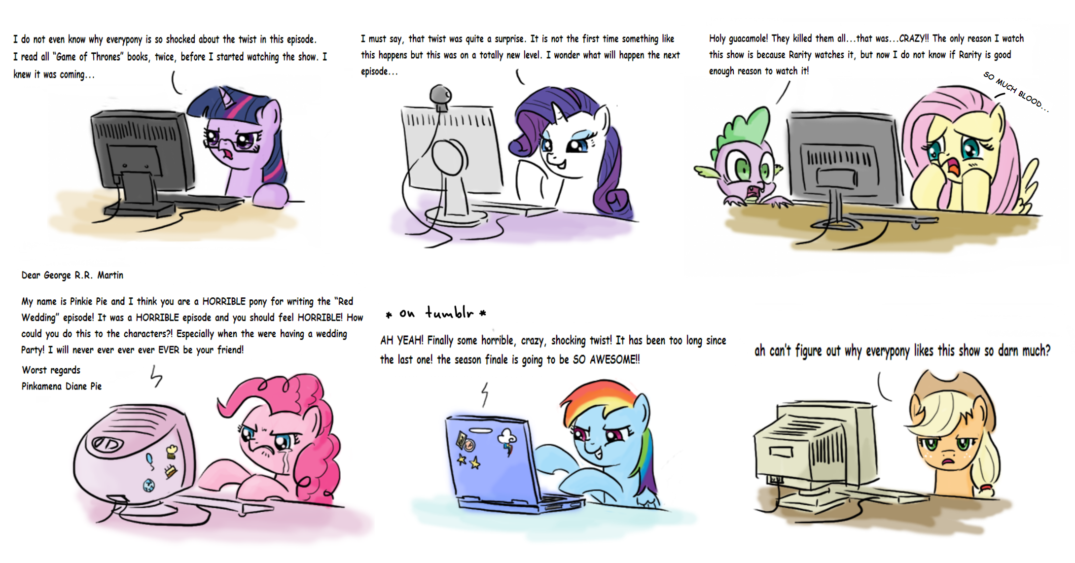 Red Wedding Reaction.Mane 6 Reaction To The Recent Episode Of Game Of Thrones Red